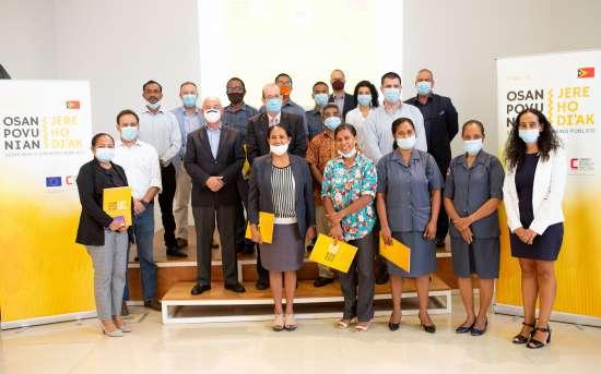 O PFMO OSAN POVU NIAN, JERE HO DI'AK realiza a cerimónia de encerramento e entrega de certificados aos formandos da Inspeção Geral do Estado
